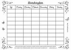 Rossmann Malvorlagen Word Stundenplan Zum Ausdrucken Englisch Kalender