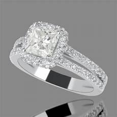 3 carat princess cut diamond engagement ring f si1 18k white gold enhanced ebay