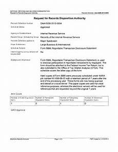 fillable online archives form 8886 reportable transaction