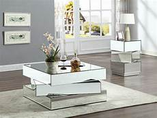 Modern Mirrored Coffee Table