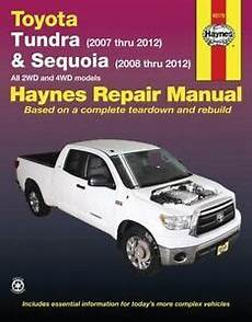 manual repair autos 2011 toyota tundra electronic valve timing haynes toyota tundra 2007 2012 sequoia 2008 2012 repair manual 1620920425 ebay