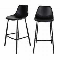 Lot De 2 Tabourets De Bar Fa 231 On Cuir Franky Dutchbone