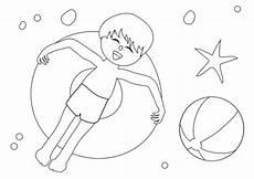 Malvorlagen Sommer Jung Kostenlose Malvorlage Sommer Junge Im Schwimmreifen Zum