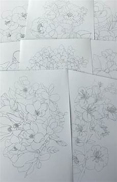 botanical watercolor coloring pages stickerrific