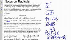 simple radical form video youtube