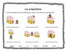 french prepositions worksheet christmas gingerbread