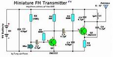 Fm Transmitter Circuit Diagram Schematic by 9v Mini Fm Transmitter Electronic Schematic Diagram
