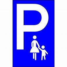Parkschild Mutterkind Parkplatz