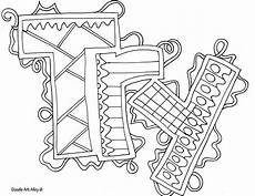 word coloring pages doodle alley