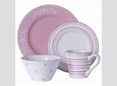 Phi Mu Decor: Soft Country Scroll 16 pc. Dinnerware Set   Pink