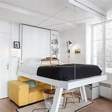 lit suspendu au plafond lit suspendu vision design et gain de place bedup 174