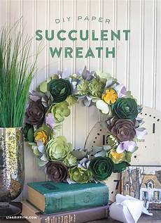 Home Decor Ideas Using Paper by Diy Paper Succulent Wreath Paper Flowers Paper Flowers