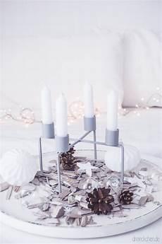 adventskranz inspiration kerzenhalter mit stabkerzen