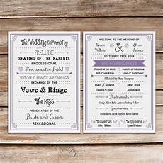 a up of free wedding fan programs b lovely events