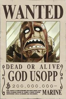 why does world government raise god usopp s bounty pretty