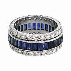 sapphire and diamond wedding band estate diamond jewelry