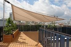 Dach Terrasse Windschutz Segel - dachterrasse sonnensegel rollsegel beschattung