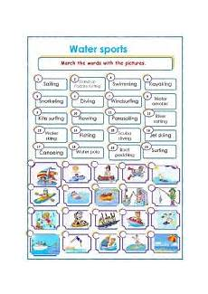 water sports activity worksheets 15751 worksheets water sports
