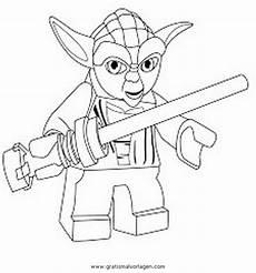 Lego Wars Yoda Ausmalbilder Lego Wars Gratis Malvorlage In Comic