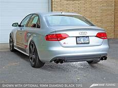 awe track edition exhaust for audi b8 s4 3 0t diamond black tips 90mm