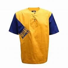 chemise tradi moderne pur coton avec col rond jaune