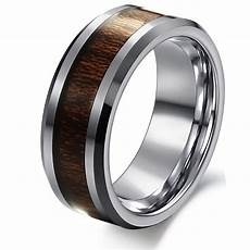 8mm men s silver tungsten carbide inlay comfort fit wedding band ring sizes ebay