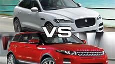 jaguar e pace vs land rover evoque 2017 jaguar f pace vs 2016 land rover range rover evoque