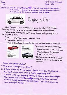 buying a car worksheet use english in teaching written language buying a car worksheet