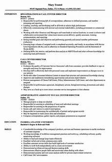 call center director resume sles velvet