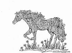 Ausmalbilder Pferde Schwer Print Adults Difficult Animals Printable Hd Coloring