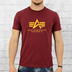 order now alpha industries t shirt basic t burgundy