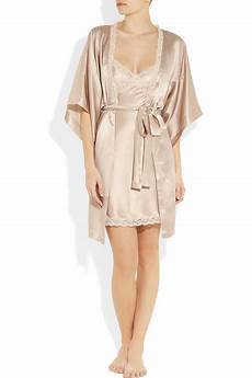 Stella Mccartney Clara Whispering Silk Satin Robe Net