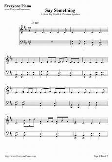 free say something a great big world piano sheet music preview 1 free piano sheet music piano