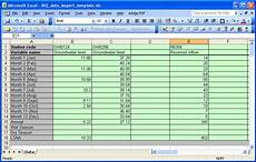 microsoft excel worksheet exle for data import