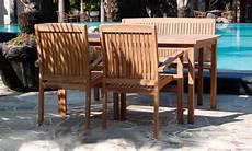 Gartenmöbel Set Holz - rechteckig 150 cm gro 223 en holz teak massiv tisch 2 st 252 hle