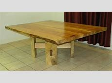 Custom Made Live Edge Maple Pedestal Dining Table by North