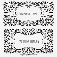 cornici illustrator cornici ornamentali in stile disegnato a mano scaricare