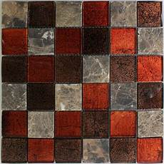 Glass Mosaic Tiles Brown 48x48mm Ran48004