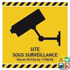 panneau site sous surveillance pictogramme site sous surveillance vid 233 o