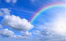 Malvorlagen Regenbogen Am Himmel Regenbogen Sonne Und Wolken Hd Hintergrundbilder