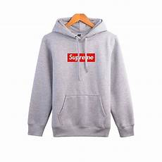 supreme clothing justin bieber supreme casual gray hoodie sweatshirt