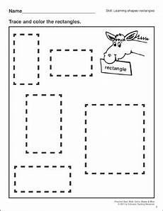 rectangles preschool basic skills shapes printable skills sheets