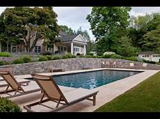 Backyard Terrace Garden Design With Swimming Pool Idea