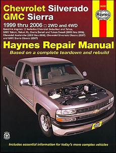car engine manuals 1999 gmc ev1 regenerative braking silverado tahoe sierra yukon repair manual 1999 2006 haynes