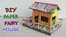 how to make paper house newspaper crafts youtube