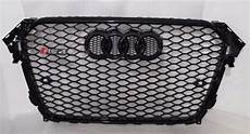 rs4 sports style front grill black honeycomb grille fit for audi a4 s4 2013 2016 in racing