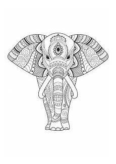 Malvorlage Elefant Mandala Erwachsene Elefanten Ausmalbilder