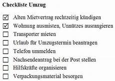 umzug to do todo liste checkliste
