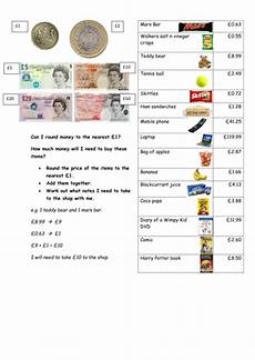 money shopping list worksheets 2221 rounding money to the nearest 163 1 by kezjebb teaching resources tes
