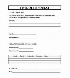 time off request form template microsoft clergy coalition